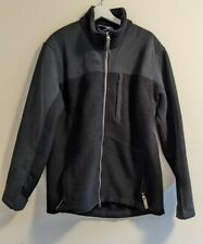 Ibex 100% Wool Thick Heavy Jacket Sweater Coat Black Mens L