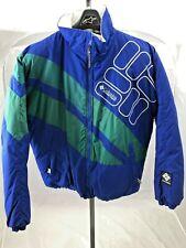 Vintage Columbia Large Ski Jacket 90s Blue Green Big Logo Color Block