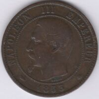 1853 BB France Napoleon III 10 Centimes | European Coins | Pennies2Pounds
