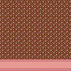 Soimoi Cotton Poplin Fabric Dot,Leaves & Azalea Flower Panel Print-P3p