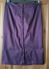 Plum Fitted Skirt Size 10