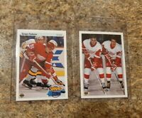 (2) Sergei Fedorov 1990-91 Upper Deck French Rookie Card lot RC HOF Young Guns