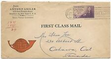 US ADV Cover Anton P. Geiler Brooklyn, NY January 14, 1957 First Class Mail