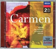 BIZET CARMEN Regina Resnik Mario del Monaco Joan Sutherland Krause SCHIPPERS 2CD