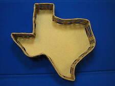 Large Texas Shaped Wicker Basket State Dallas Houston Gift Galveston City Austin