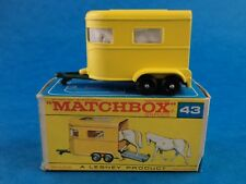 Vintage Die-Cast - MATCHBOX - PONY TRAILER - #43 Boxed Lesney