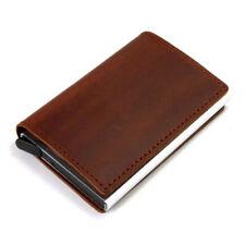Faux Leather Credit Card Holder RFID Blocking Pop-up Wallet Money Clip Bag Case