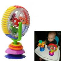Baby Kid Infant Toys Rainbow Ferris Wheel Rattle Clanking Suction High Chair NEW