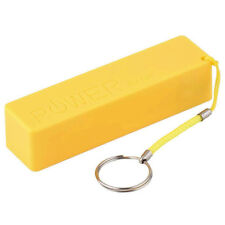 Yellow USB Power Bank Charger Pack Box Battery Case 18650 DIY Portable BSG