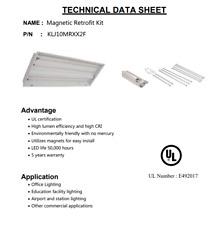 LED Magnetic Retrofit Kit 10 Watt , Driver, and Magnets 5000K 2 x 2 Troffer