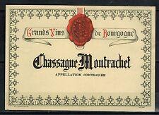 Etiquette - Grand Vin de Bourgogne - Chassagne-Montrachet - Réf.n°228