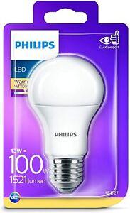 Philips LED E27 Edison Screw Light Bulb Frosted 13W (100 W) Warm White Lighting