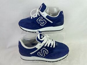 Sketchers Suede Mix Trainers in Blue Women's UK5 Sneaker Lace Up Sport N180