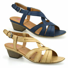 Women's Synthetic Leather Slingbacks Block Sandals & Beach Shoes