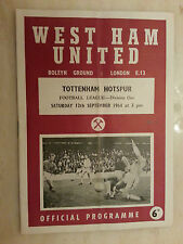 1964 League Division One- WEST HAM UNITED v TOTTENHAM HOTSPUR, 12th September