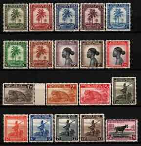 BELGIUM / CONGO 1942 - SET DEFINITIVE ( IN FRENCH ) MNH
