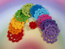 3d Felt Roses (10 small), Roll Your Own Rainbow Flowers, Craft Embellishments