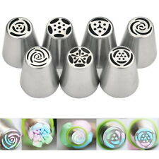 7 Pcs Russian Tips Icing Piping Nozzles Cake Decoration Tulip Rose Nozzle Tip