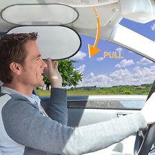 TFY Anti-dazzle Car Interior Roof Handle Mounted Sun Blocker & Sunshade, Silver