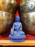 Tibetan Healing Medicine Buddha Statue Hand painted Nepal Small Size Resin C2
