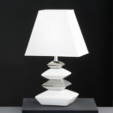 Moderne Tischleuchte Keramik Nachttischlampe weiß Leseleuchte Tischlampe Lampe