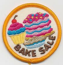 Girl Boy Cub BAKE SALE baked goods Fun Patches Crest Badges SCOUT GUIDE round
