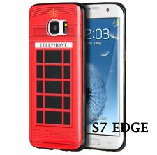 for Samsung Galaxy S7 Edge - LONDON TELEPHONE BOOTH RED Hard Rubber Case Cover