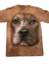 The Mountain Pitbull Dog Face Youth T-shirt New Xl 18-20