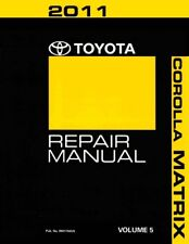2011 Toyota Corolla Matrix Shop Service Repair Manual Volume 5 Only