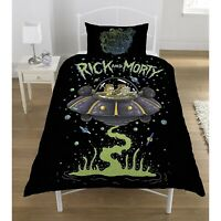 Rick And Morty Official UFO Space Ship Reversible Duvet Cover Set (SI201)