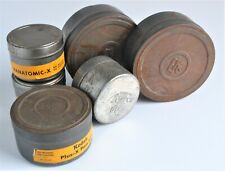 Vintage Metal Empty Kodak, Agfa Film Canisters / Cans