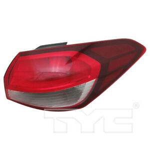 Halogen Outer Quarter Tail Light Lamp Right Passenger for 17-18 Kia Forte Sedan