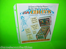 CIRCUS By BALLY 1973 ORIGINAL NOS PINBALL MACHINE PROMO SALES FLYER NM