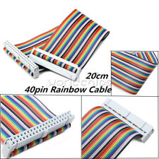 20cm 40PIN Way GPIO Rainbow Ribbon Flat Cable for Raspberry Pi Model B/B+