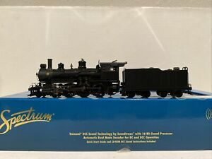 Ho Scale Bachmann Spectrum Undecorated Unlettered 4-6-0 w/ DCC Sound