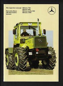 MERCEDES-BENZ AWD MB-TRAC 700/800/TURBO 900/1000 TRACTORS 26 PAGE BROCHURE 1984