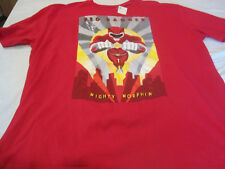 Mighty Morphin Red Ranger Mens Extra Extra Large RedT-Shirt~Size XXL~New~LBDLW
