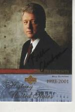 BILL CLINTON SIGNED 2004 UPPERDECK HISTORY OF THE UNITED STATES #42 - POTUS