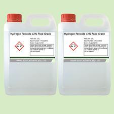 Peróxido de hidrógeno 12% de alimentos grado 2 X 2.5 litros (5L)