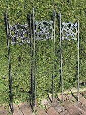 Large Antique Victorian Style Heavy Iron Steel Garden Fence Trellis Architecture