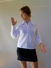 Vintage retro true 60s XS unused white lacey blouse top long sleeves NOS