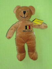 Sunkid Stofftier Teddy-Bär braun mit Belgien-Stick (Belgium und Flagge) NEU