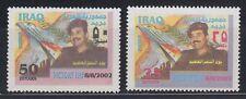 Irak Iraq 2002 ** Mi.1697/98 Tag des Sieges Victory Day Saddam Falke Rakete
