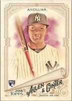 2018 Topps Allen and Ginter Baseball Base Singles #201-350 (Pick Your Cards)