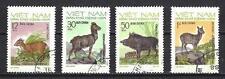 Animaux faune Vietnam du nord (136) série complète de 4 timbres oblitérés