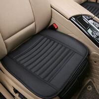 Schwarz Auto Atmungsaktiv Sitzauflage Sitzbezüge Sitzkissen Sitzmatte PU Leder #