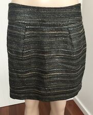 Witchery - Black & Metallic Luxe Short Mini Tulip Skirt Size 10
