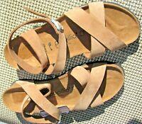 NWOB Birkenstock Papillio Lola wedge sandals, brown leather, Size 9 US, 40 Eur
