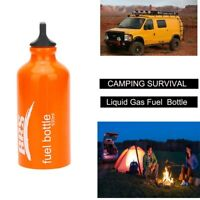 Outdoor Camping Petrol Alcohol Liquid Gas Tank Fuel Storage Bottle 530ml Q1K6