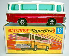 "Matchbox SF 12B Setra Coach rotmetallic top in ""H"" Box"